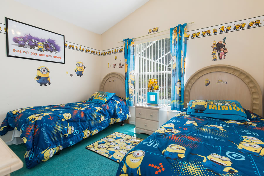 Despicable Me Minions Themed Twin Bedroom